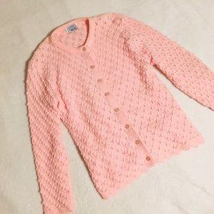 💗Vintage pastel pink knit sweater USA💗